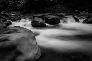Rio Naranjo Costa Rica Quepos Black and White Long Exposure